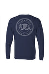 Boy's Texas Badge Tee - Pecos Navy - Back