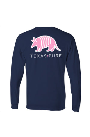 Texas Pure Colorful Armadillo Texas T-Shirt - Long Sleeve - Back
