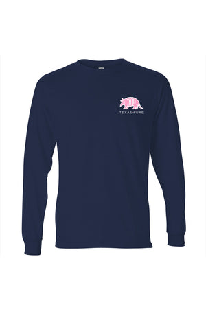 Texas Pure Colorful Armadillo Texas T-Shirt - Long Sleeve - Front