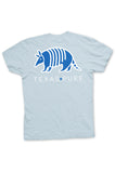 Texas Pure Blue Armadillo Texas T-shirt