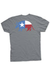 Lone Star Armadillo Tee from TexasPure - Grey - Back