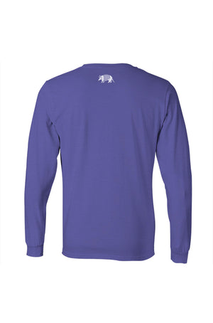 Fort Worth Collegiate Texas Long Sleeve Tee - Purple and White - Back