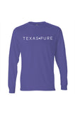Fort Worth Collegiate Texas Long Sleeve Tee - Purple and White - Front