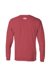 Lubbock Tee - Long Sleeve - Red and Black Tee - Back
