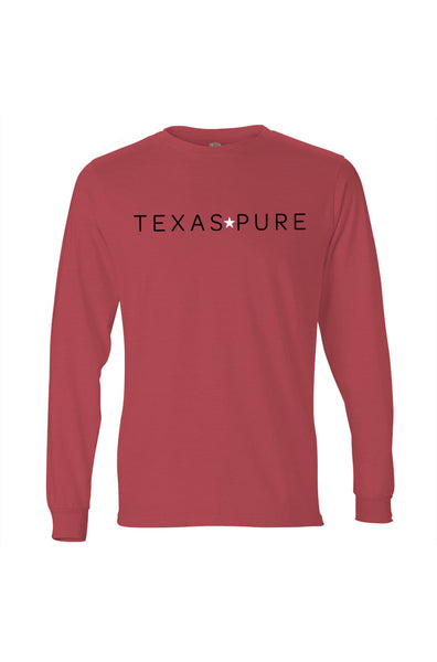 Lubbock Tee - Long Sleeve - Red and Black Tee - Front