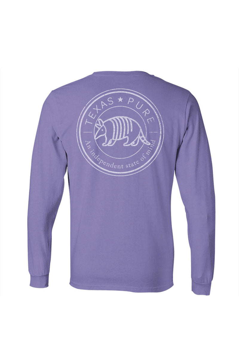 Women's Texas Pure Badge Long Sleeve Tee - Coast Blue - Front