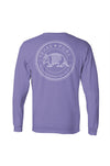 Texas Pure Badge Texas Tee - Armadillo Texas T-Shirt - Purple