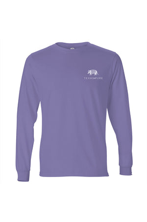 Women's Texas Pure Badge Long Sleeve Tee - Violet - Front