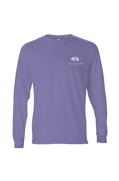 Girl's Texas Tee - Armadillo Badge - Violet - Front