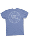 Texas Pure Armadillo Badge T-Shirt -Maverick Blue - Back
