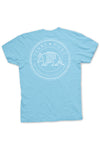 Texas Pure Product Dillo Badge Short Sleeve Texas Tee - Brazos Teal - Back