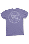 Texas Pure Armadillo Badge T-Shirt - Violet - Back