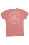 Texas Pure Armadillo Badge T-Shirt - Frio Melon - Back