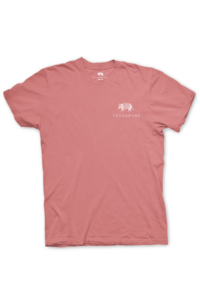 Texas Pure Product Dillo Badge Short Sleeve Texas Tee - Frio Melon - Front