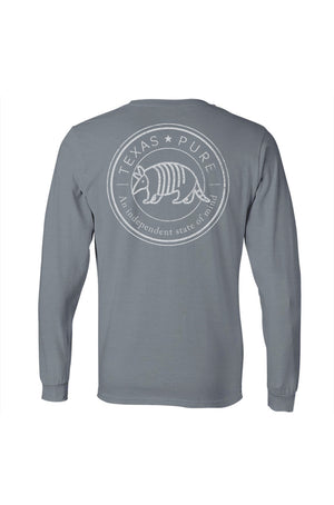 Texas Pure Badge Texas Tee - Armadillo Texas T-Shirt - Gray