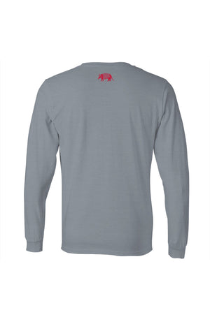 Texas Pure Long Sleeve Logo Spur Gray