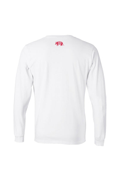 Texas Pure White Long Sleeve Logo Tee - Back