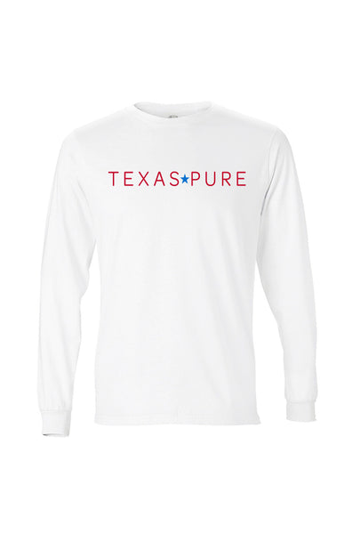 Texas Pure White Long Sleeve Logo Tee