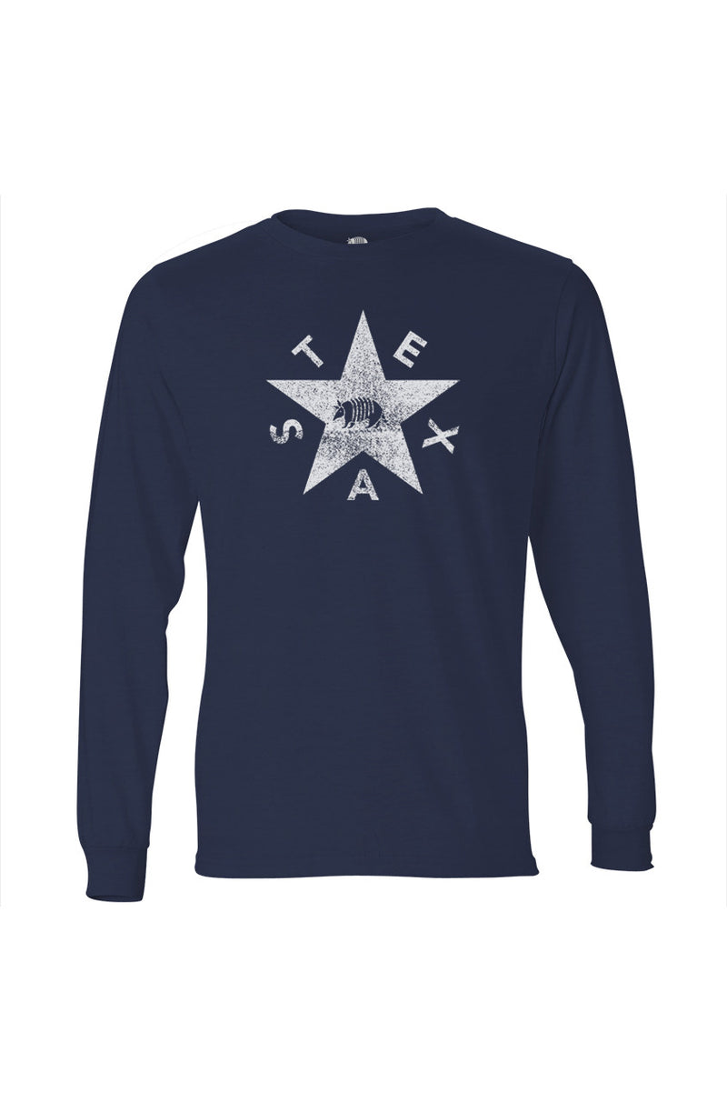 Texas Pure Vintage Flag Pecos Navy Long Sleeve