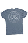 Texas Pure Armadillo Badge T-Shirt - Blue - Back