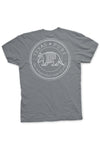 Texas Pure Product Dillo Badge Short Sleeve Texas Tee - Grey - Back