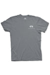 Texas Pure Product Dillo Badge Short Sleeve Texas Tee - Grey - Front
