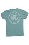 Texas Pure Armadillo Badge T-Shirt - Gulf Coast Green - Back