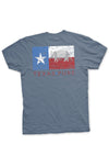 Texas Flag T-Shirt - Dillo Texas Pure Flag Tee - Back