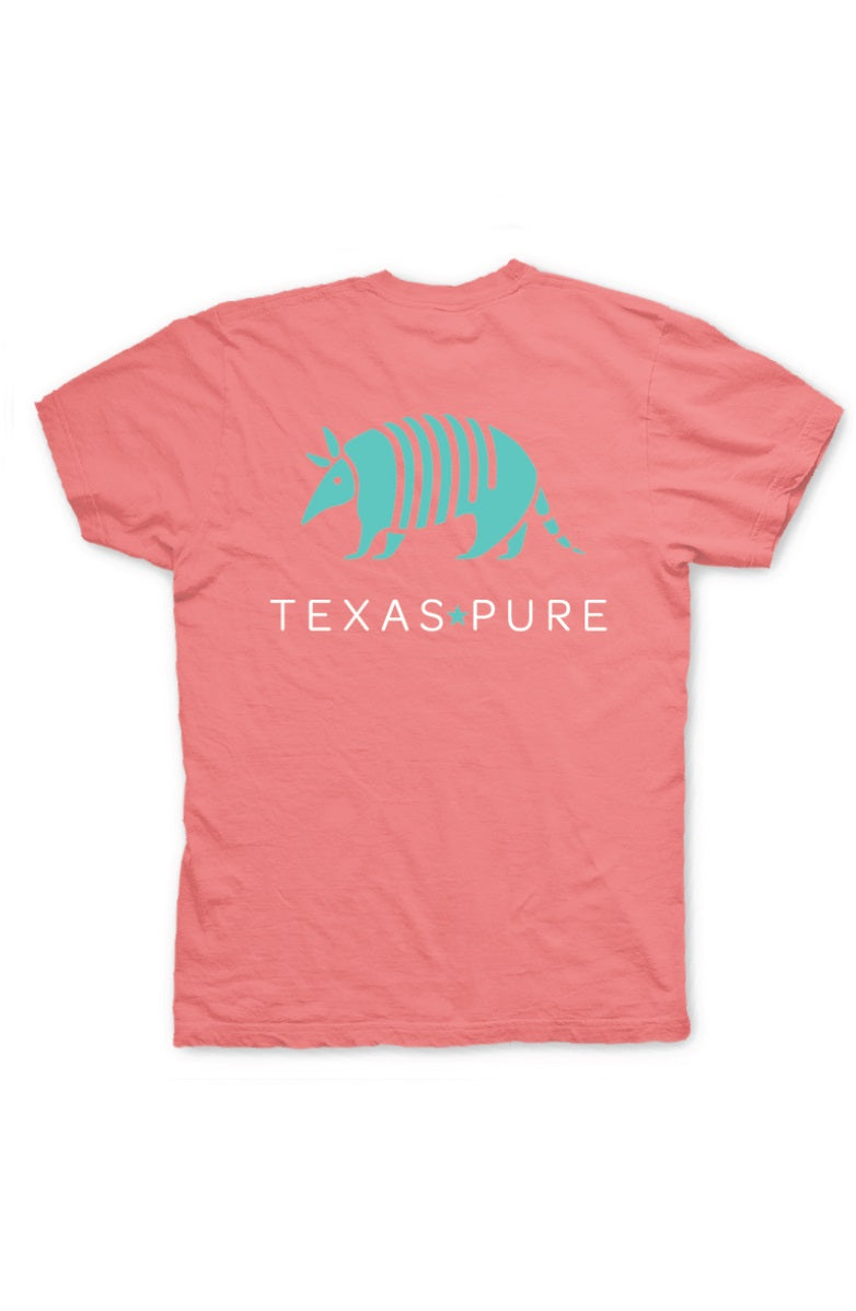 Texas T-Shirt - Watermelon Armadillo Tee