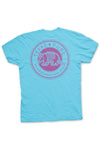 Texas T-Shirt Color Badge Texas Pure - Brazos Teal - Back