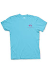 Texas T-Shirt Color Badge Texas Pure - Brazos Teal - Front