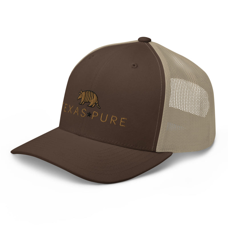 Brown Texas Pure Structured Trucker Cap