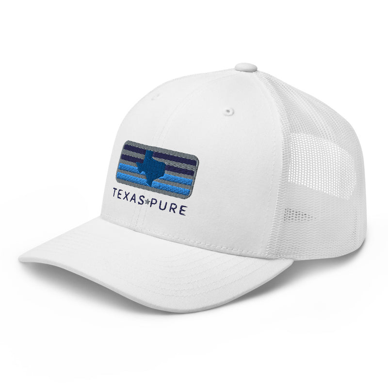 Blue Skies of Texas White Trucker Cap