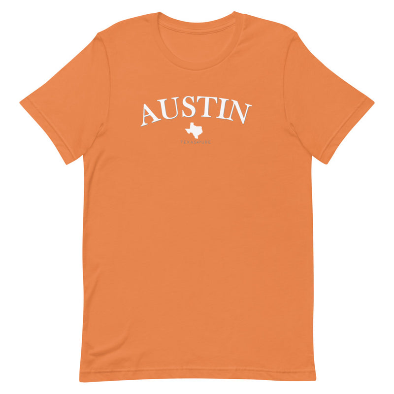 Austin Texas Pure (Orange) Short-Sleeve Unisex T-Shirt