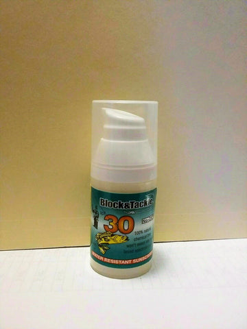 Block & Tackle, All Natural SPF 30 Face &  Body 1 oz- 8 hour, oxybenzone free!