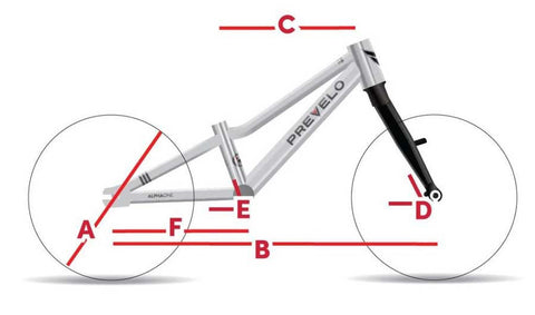 "Prevelo Alpha One 14"" Bike Geometry"