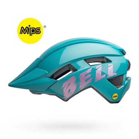 Bell Sidetrack II MIPS Light Blue and Pink Youth Bike Helmet