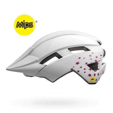 Bell Sidetrack II MIPS White Stars Youth Bike Helmet