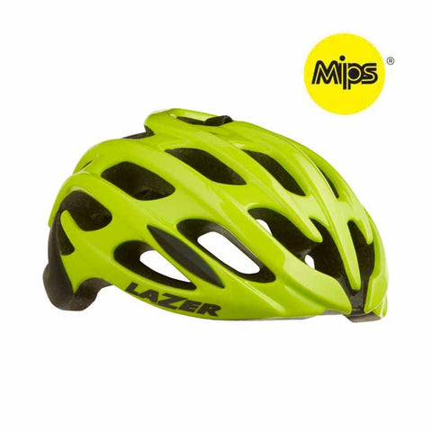 Lazer Blade+ MIPS Flash Yellow Bike Helmet