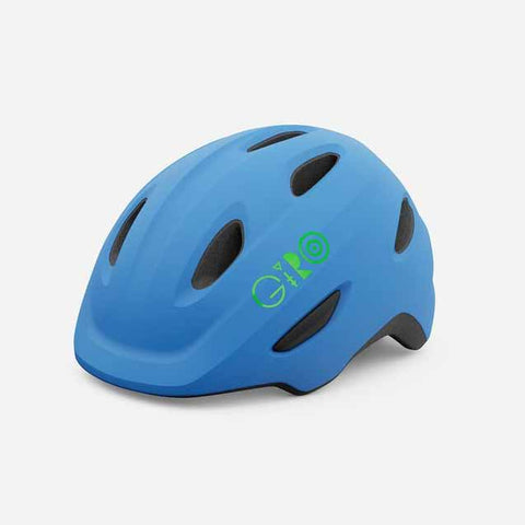 Giro Scamp Matte Blue and Lime Youth Bike Helmet
