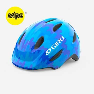Giro Scamp MIPS Blue Splash Youth Bike Helmet