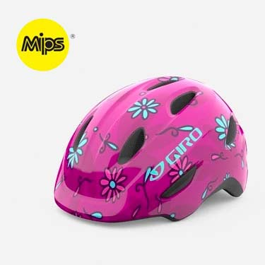 Giro Scamp MIPS Pink Daisies Youth Bike Helmet