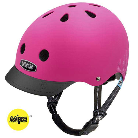 Nutcase Little Nutty Pink Bubbles MIPS Bike Helmet
