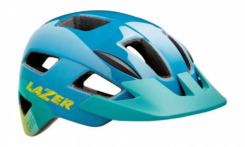 Lazer Gekko Blue Yellow Bike Helmet