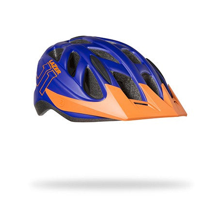 Lazer J1 Lightning Blue and Orange Bike Helmet