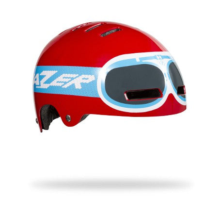 Lazer Street+ Junior Red Goggle Helmet