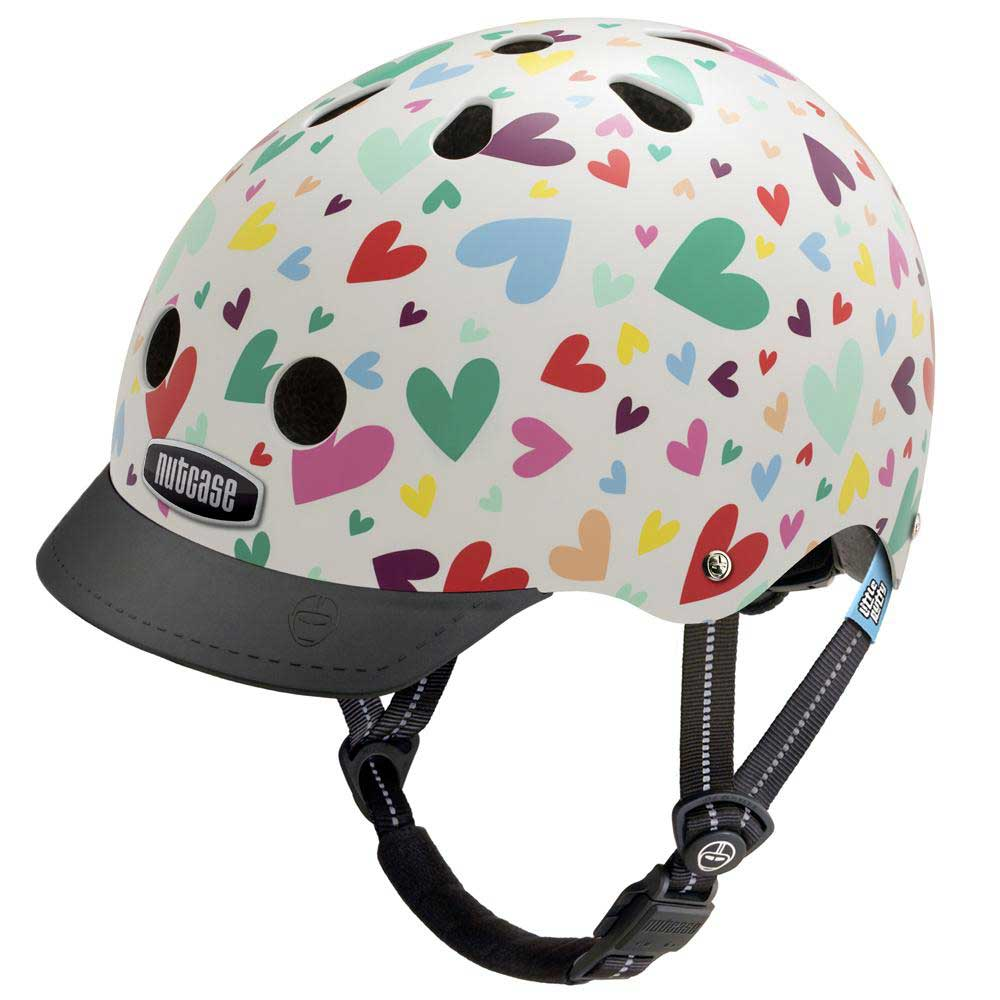 nutcase little nutty happy hearts bike helmet ready set. Black Bedroom Furniture Sets. Home Design Ideas