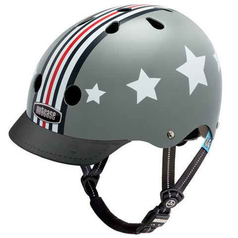 Nutcase Little Nutty Silver Fly Kids Bike Helmet