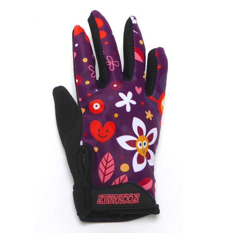 ZippyRooz Flowers Full Finger Bike Gloves