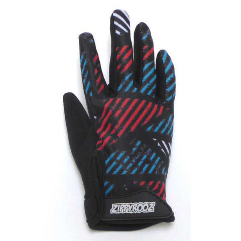 ZippyRooz Geometric Full Finger Bike Gloves